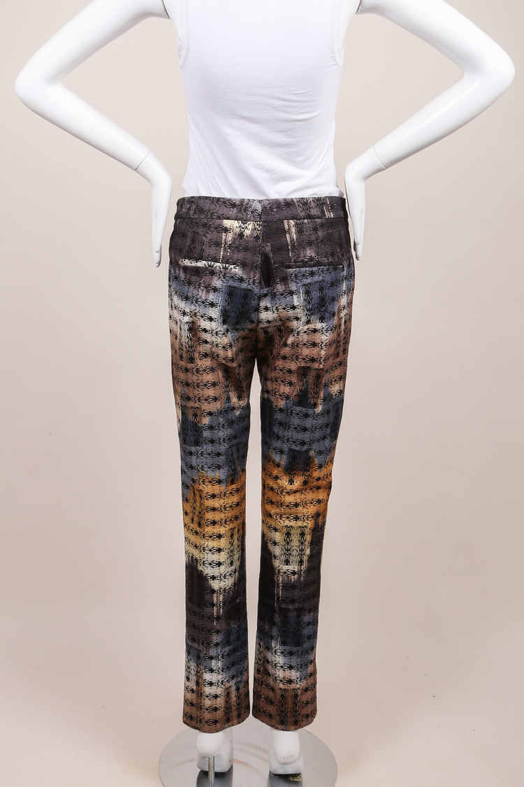 NWT  Multicolor Abstract Printed Trousers SZ 4