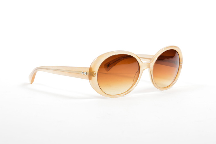 Gold Frame Oval Sunglasses : Paul Smith USD275 Beige Gold Brown Translucent Glitter Frame ...