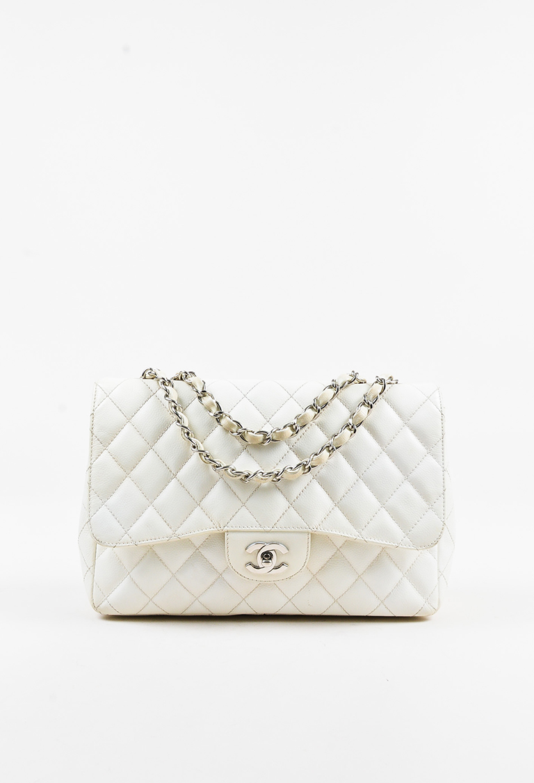 Classic Jumbo Flap Quilted Caviar Leather Bag