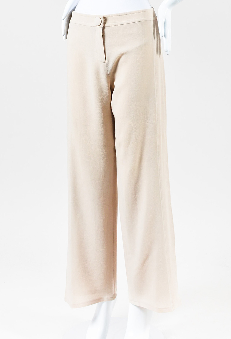 Blush Beige Crepe Pants