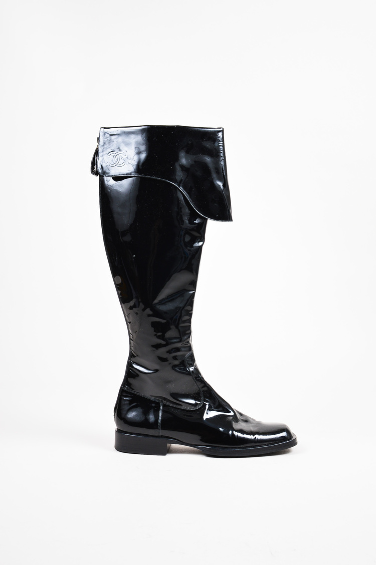 chanel knee high boots. item #: 201582 chanel knee high boots l