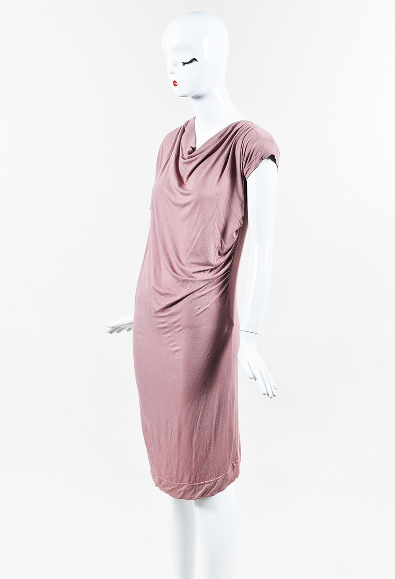 Anglomania Mauve Jersey Ruched Short Sleeve Dress