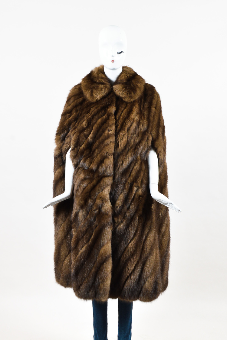 Neiman Marcus Brown Chevron Barguzin Russian Sable Fur Cape | eBay for Sable Fur Cape  285eri