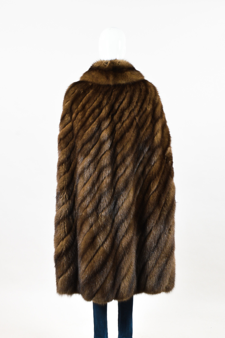 Neiman Marcus Brown Chevron Barguzin Russian Sable Fur Cape | eBay for Sable Fur Cape  287fsj