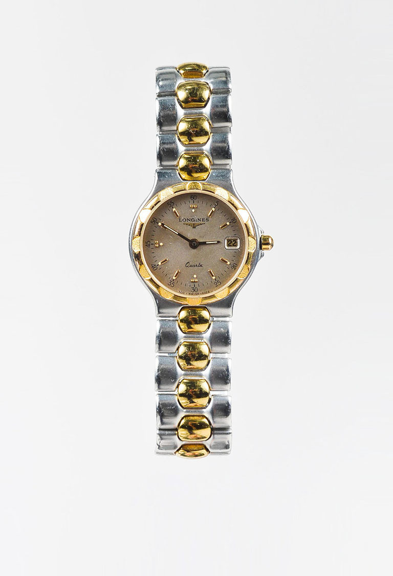 Stainless Steel Gold Plated Two Tone Quartz Watch