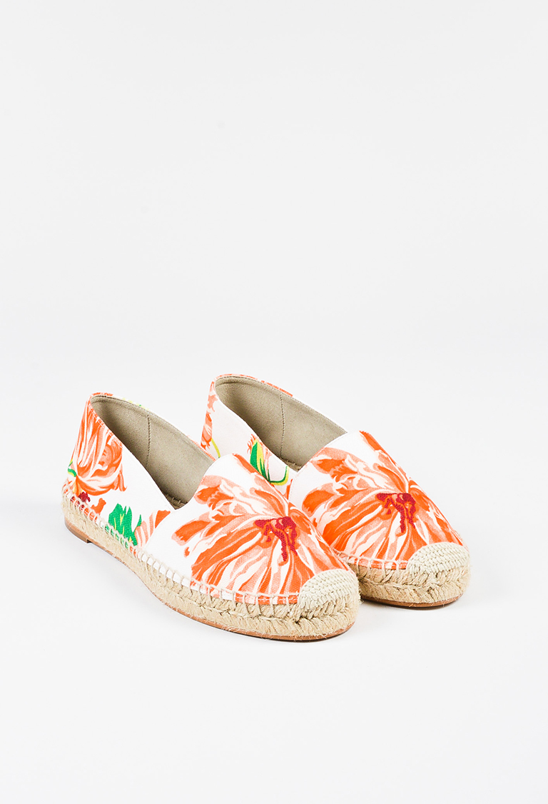 "Orange Floral ""Carlow"" Espadrilles"