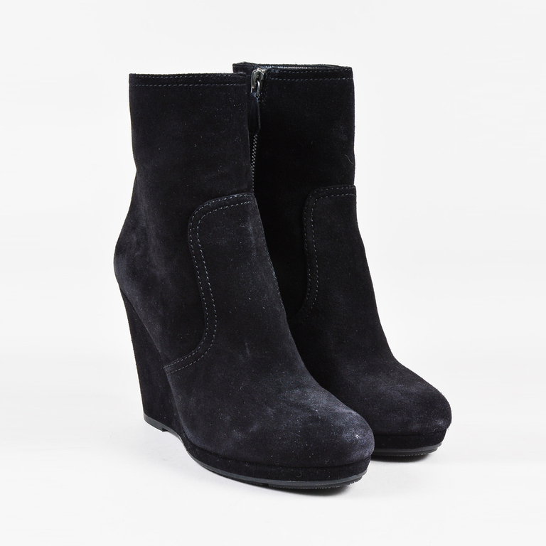 Prada Sport Suede Wedge Booties cheap sale purchase cheap sale official wiki cn2Kk2h2