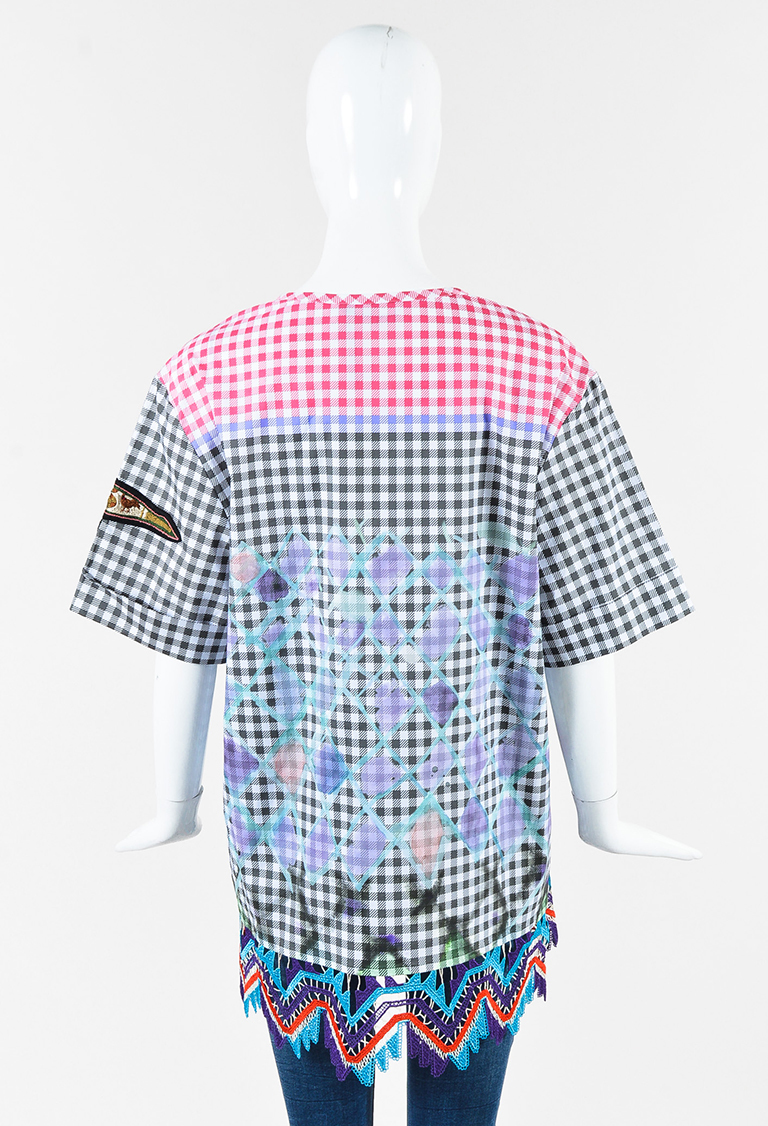 Pick A Best For Sale Sale 2018 Newest Peter Pilotto Woman Patch Applique Cotton-blend Printed Gingham Top Multicolor Size 10 Peter Pilotto 2018 New Sale Online Cheap 2018 New nbDySb820n