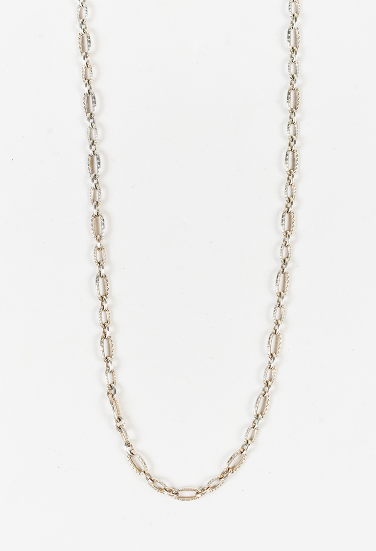 Sterling Silver Oval Chain Link Choker Necklace
