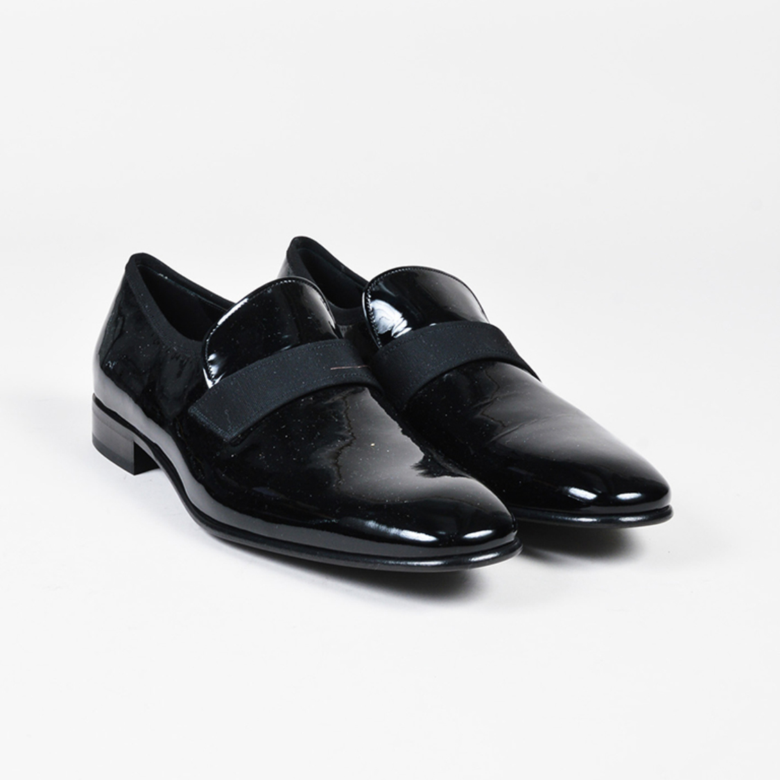 Mens Patent Leather And Grosgrain Dress Shoes