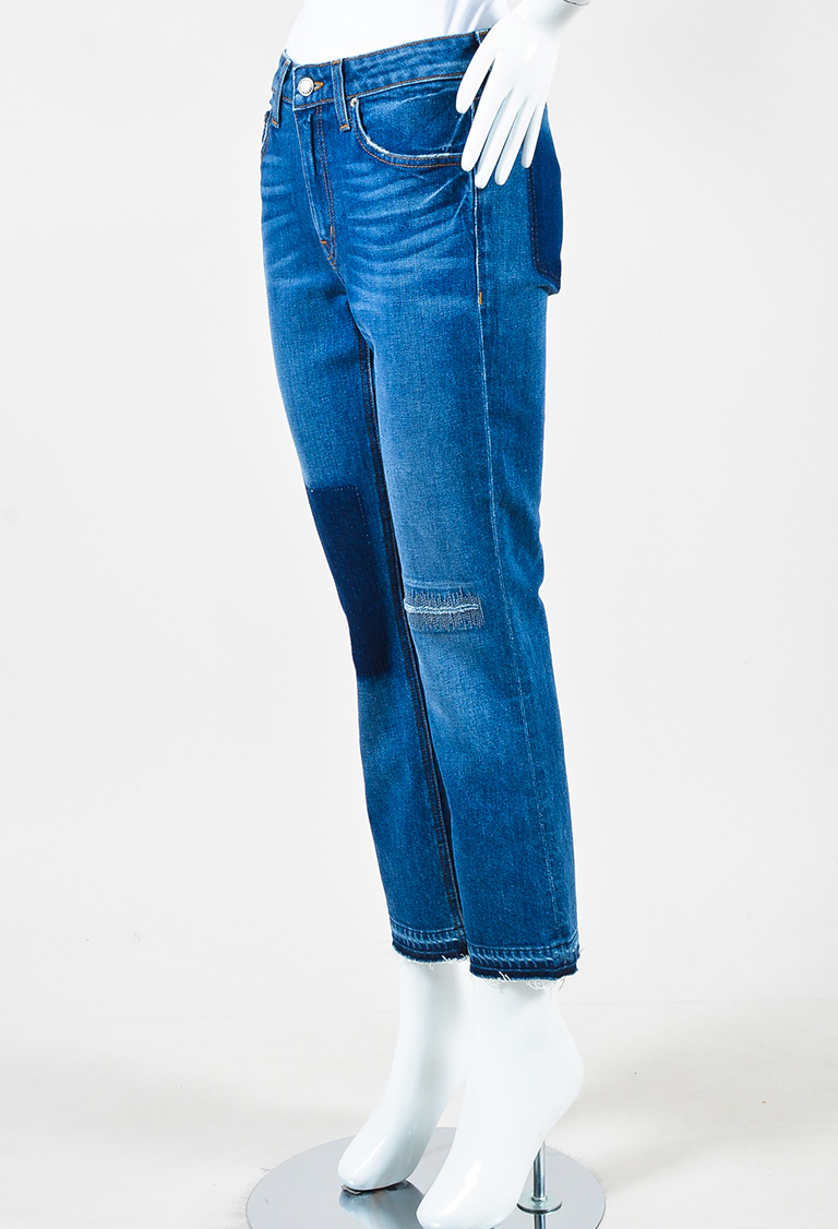 "10 Crosby Denim Distressed ""Gia"" Crop Flare Jeans"