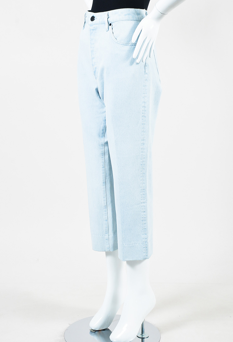 Goldsign Light Blue Denim High Rise Crop Jeans