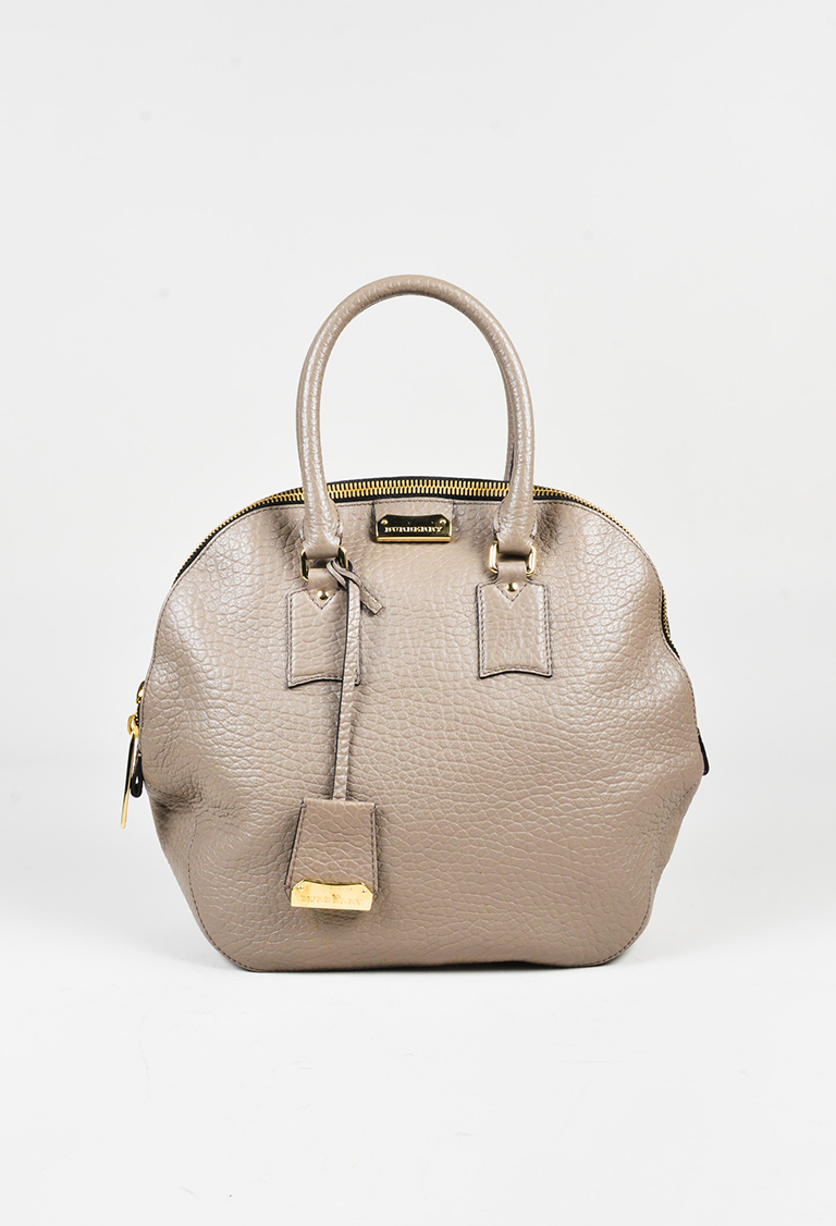 26827eaf80ae Burberry. Taupe Grained Leather Medium