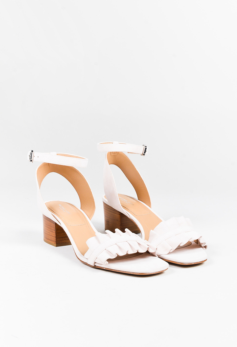 """Collection  Ballet Pink Suede """"Monroe"""" Sandals"""