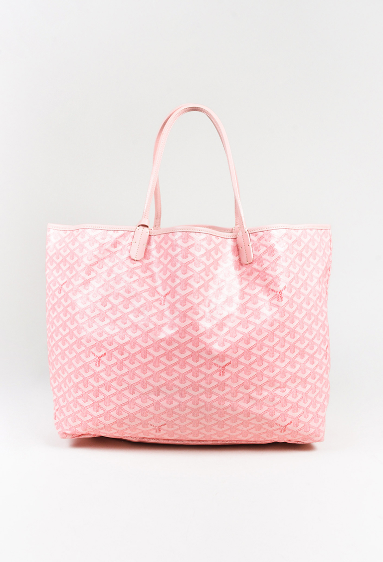 Goyard Pink Goyardine Coated Canvas St Louis GM Tote Bag EBay - How to create a paypal invoice goyard online store