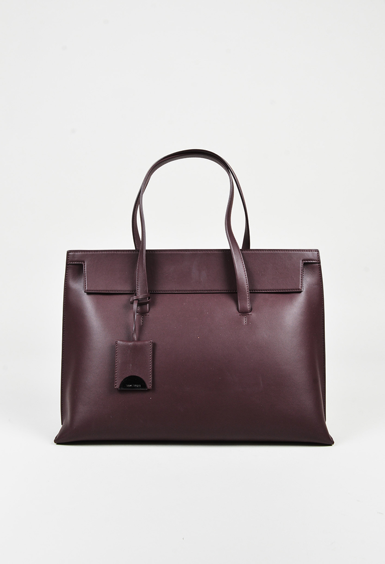 """Wine"" Red Leather Large ""Serena"" Tote Bag"