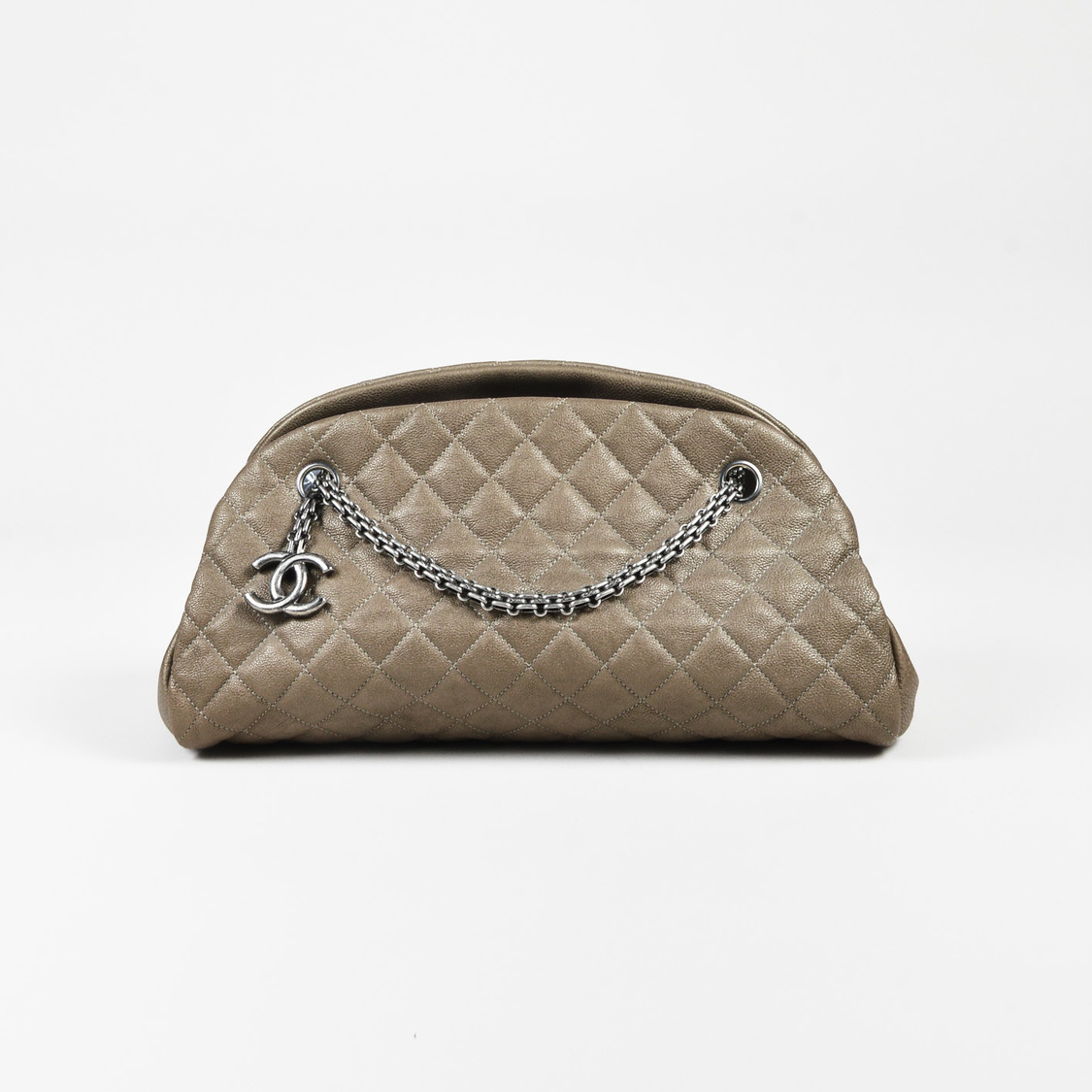 Chanel Taupe Quilted Leather Medium Just Mademoiselle Bowling Bag - What is an invoice paypal chanel online store