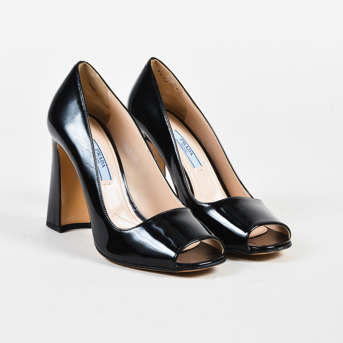 Pumps & High Heels for Women, Black, Patent Saffiano Leather, 2017, 3.5 4 4.5 5 5.5 6 6.5 7 Prada
