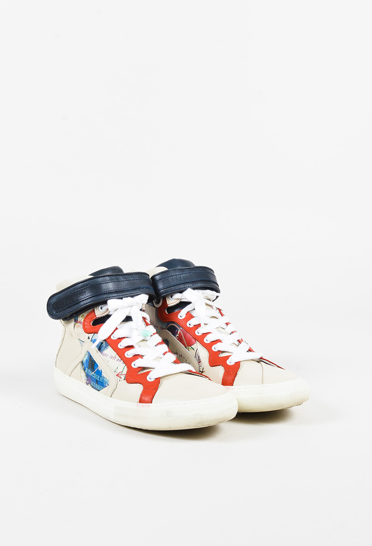 x Mother of Pearl Cream Multi High Top Sneakers