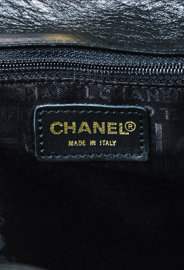 Chanel Black Taupe Lambskin Leather Olsen Hobo Bag EBay - Lawn care invoice template free chanel online store