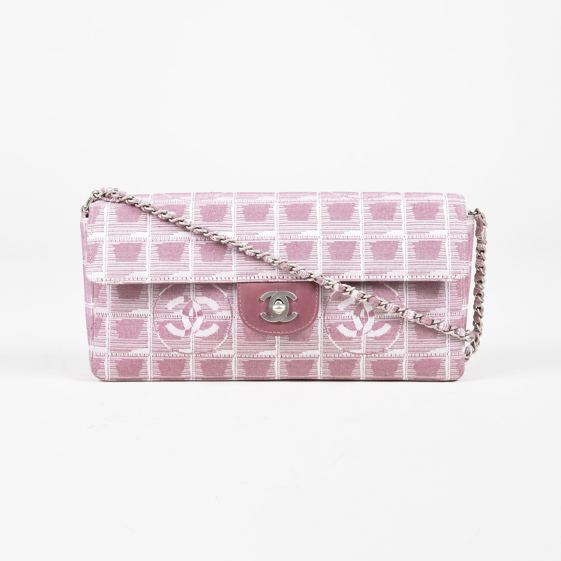 Chanel Pink Quilted Nylon Travel Ligne EW Flap Shoulder Bag EBay - What is an invoice paypal chanel online store