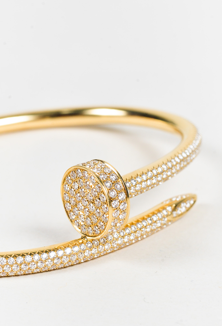 goo diamond appealing cartier at un bracelet clou nail juste gold