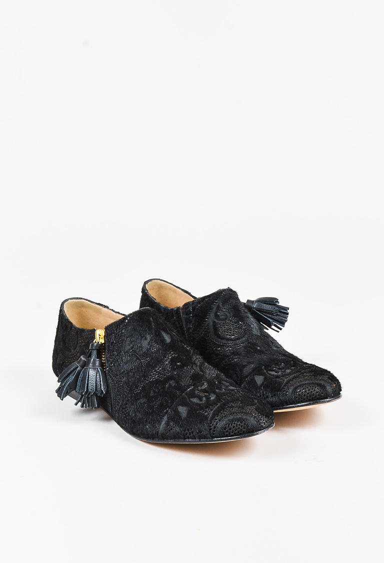 "Black Lace ""Mr. Holly Zip"" Flats"