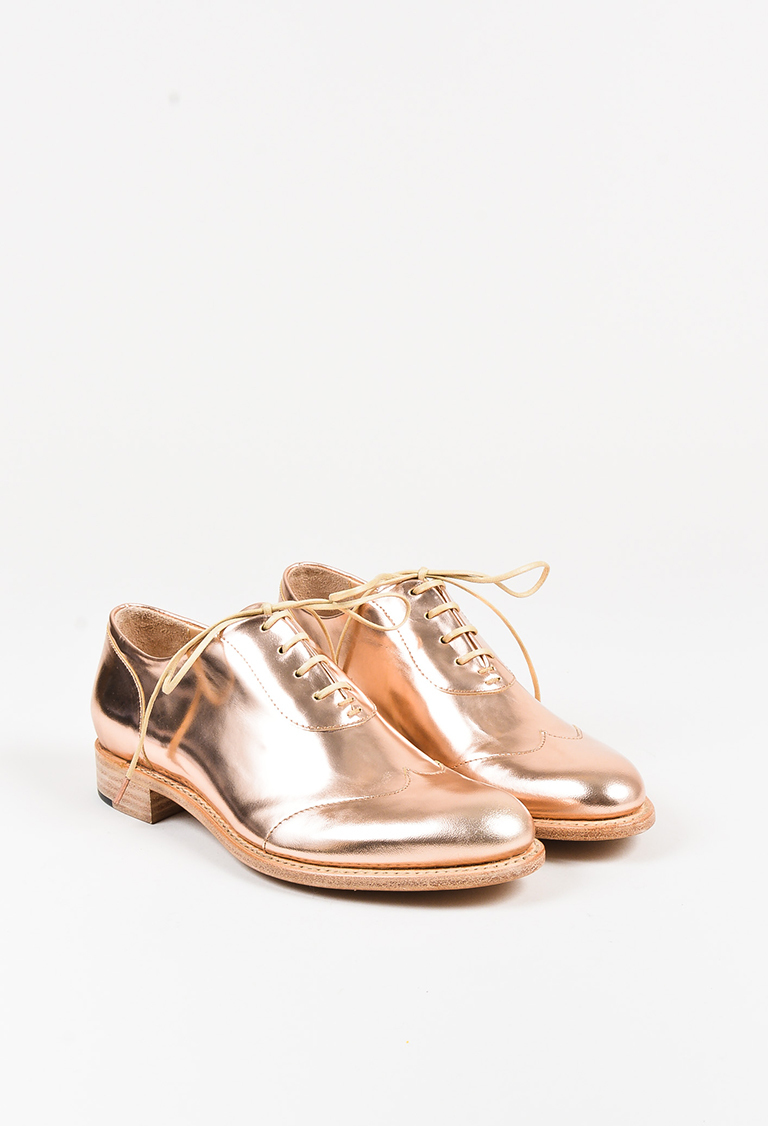 """Rose"" Gold ""Mr. Evans"" Oxfords"