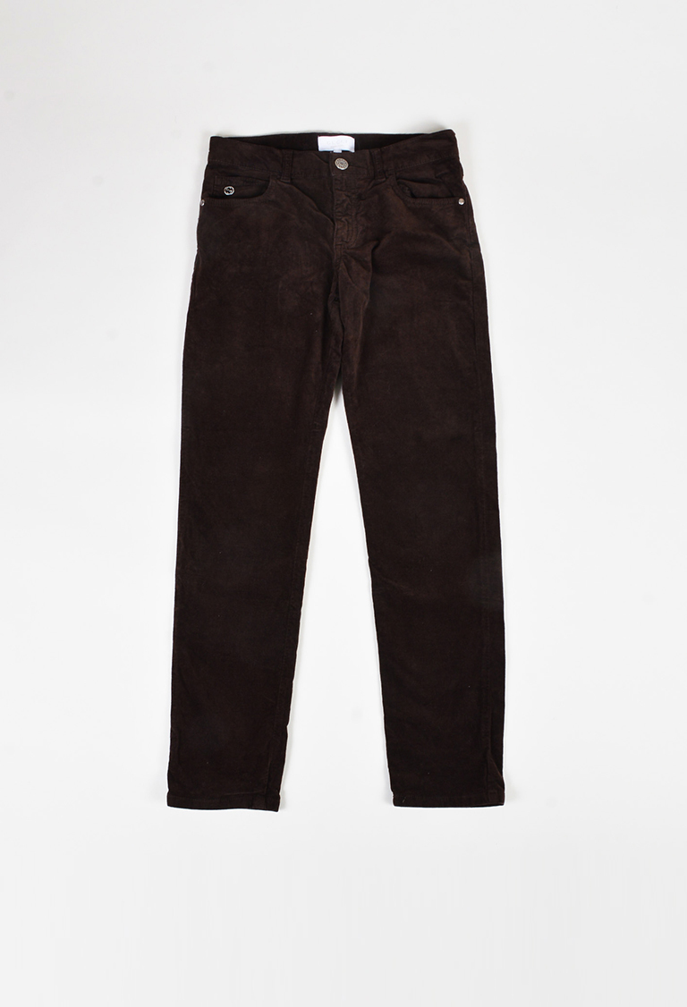 Kids' Brown Corduroy Slim Leg Pants