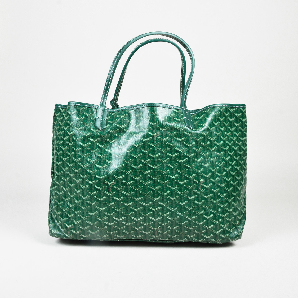 Goyard Green Goyard Chevron Coated Canvas St Louis Tote GM Bag - How to create a paypal invoice goyard online store
