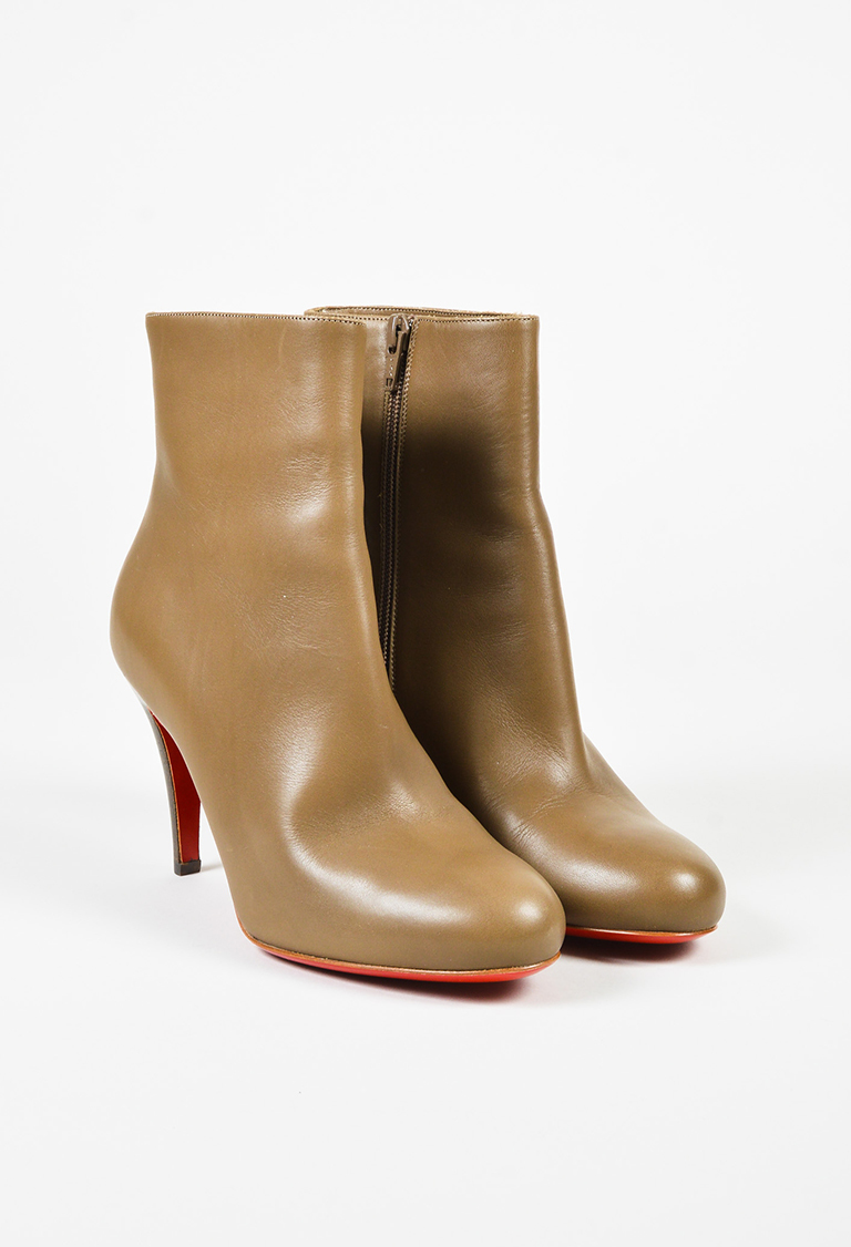 """Taupe"" Brown ""Bello"" High Heel Ankle Boots"