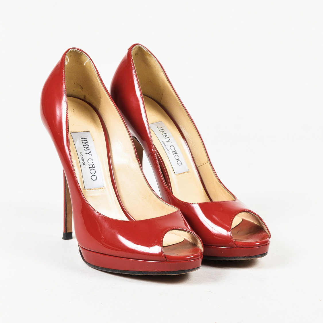 Pumps & High Heels for Women On Sale, Red, Suede leather, 2017, 3.5 Jimmy Choo London