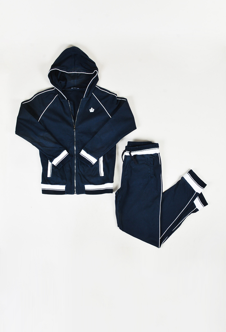 KidBlue White Knit Jacket & Jogger Pants Sweatsuit