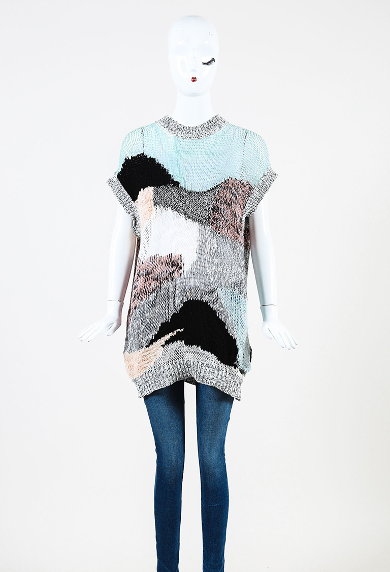 McQ  Multicolor Knit Sleeveless Pullover Sweater