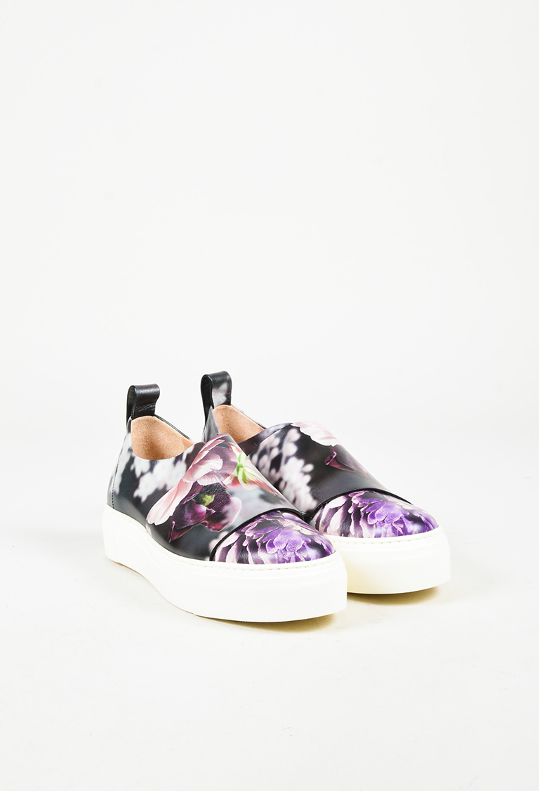 "Collection Multicolor Leather Floral ""Ariel"" Sneakers"