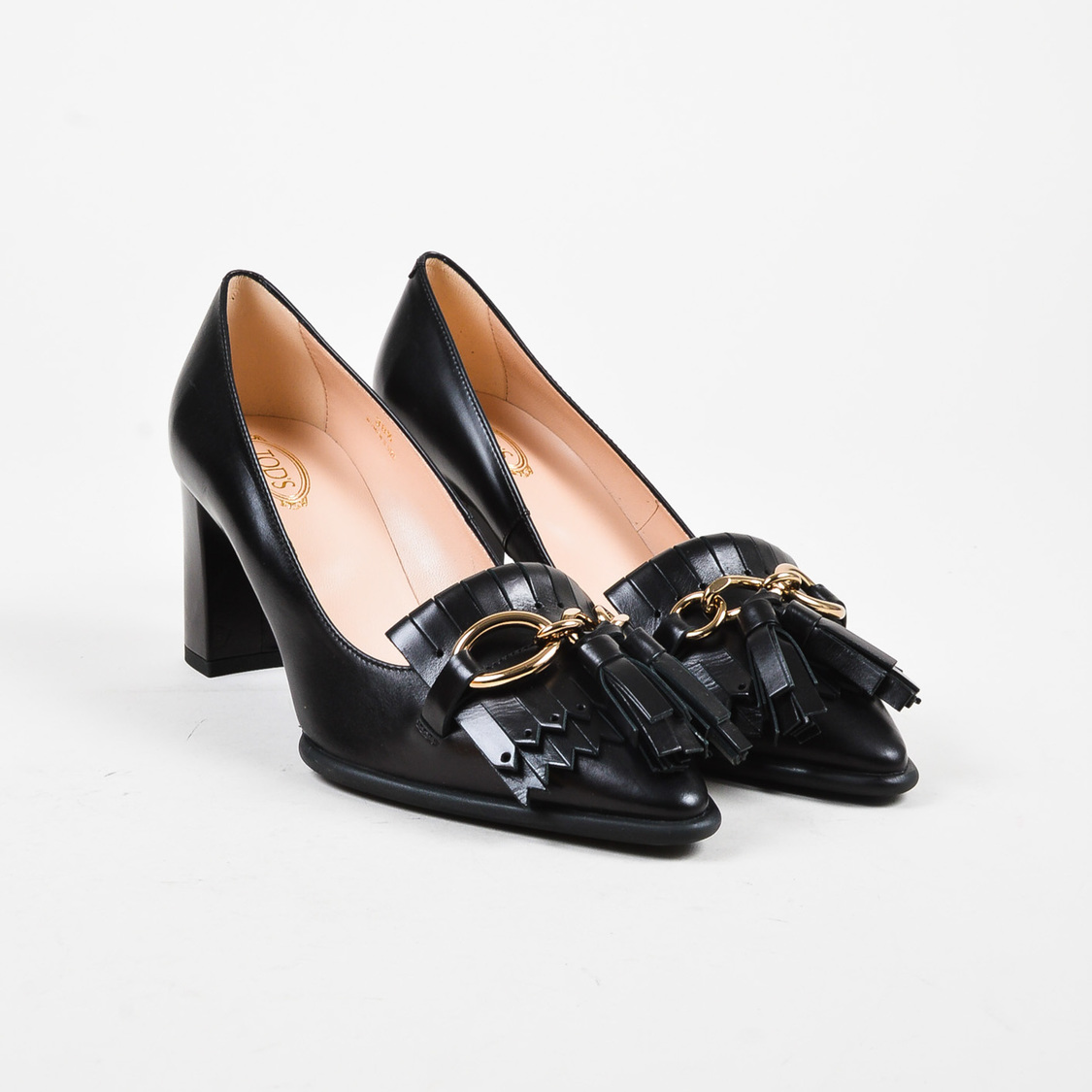 Pumps & High Heels for Women On Sale, Black, Leather, 2017, 3.5 4 4.5 Tod's