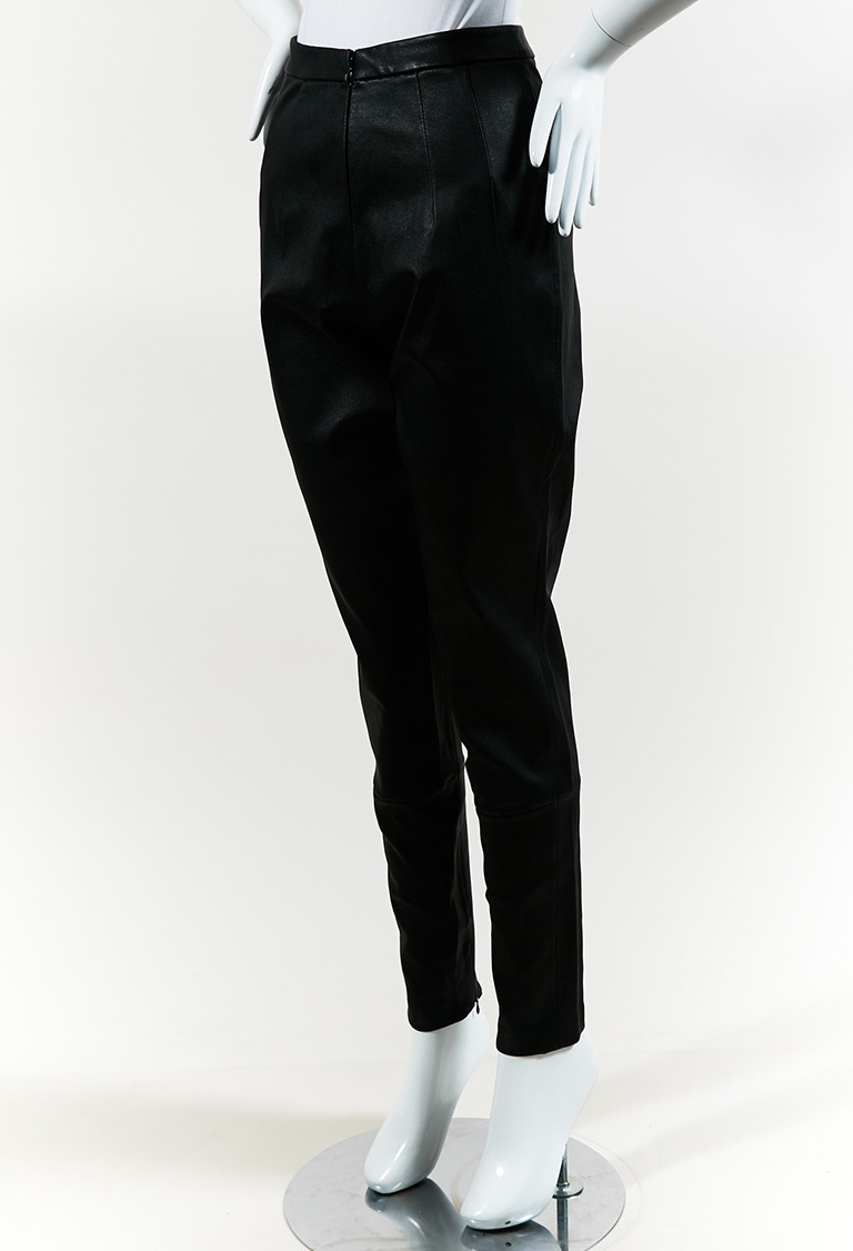 "Black Leather ""Lambskin Legging"" Pants"