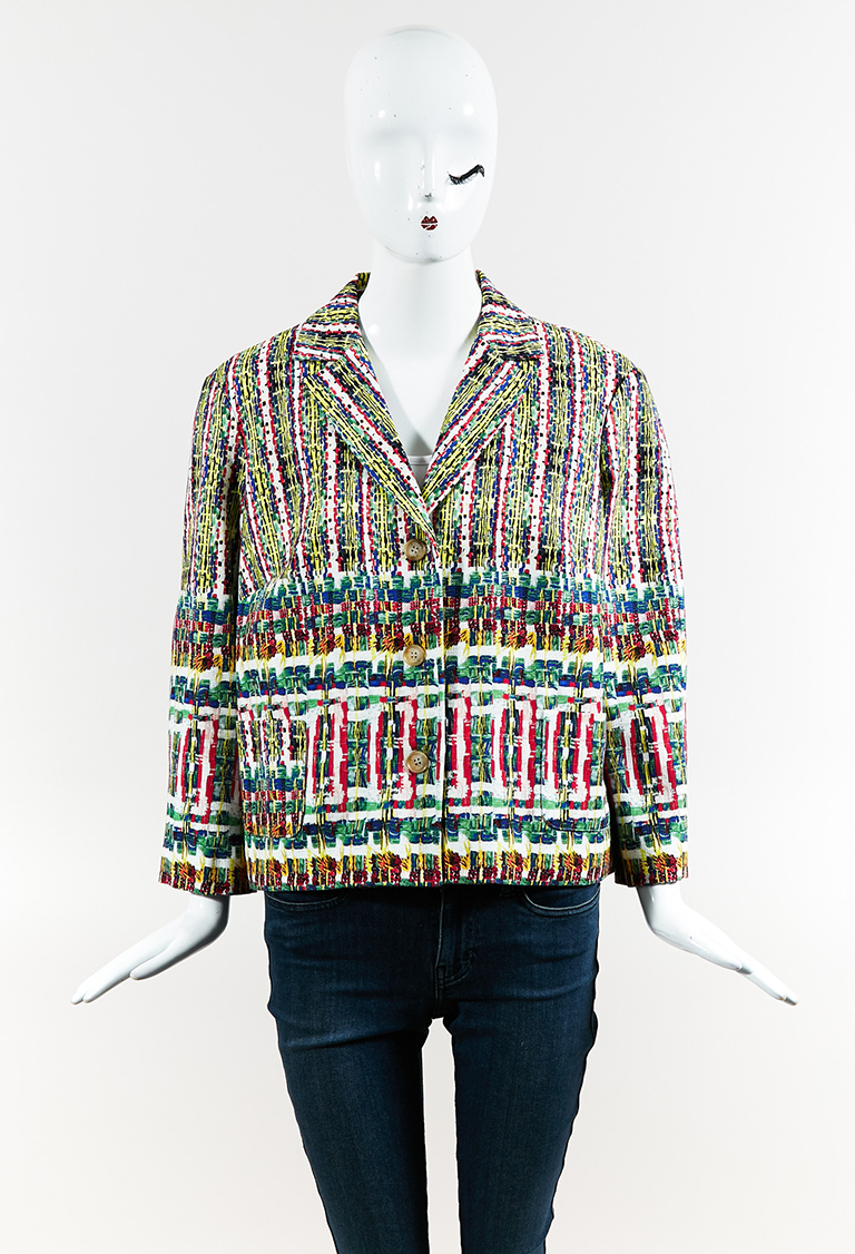 Multicolor Cotton Printed Button Up Jacket