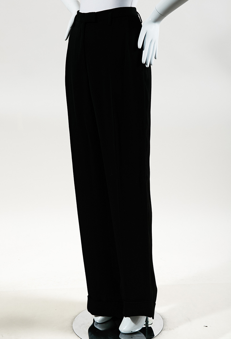 Maison Margiela Black Wide Leg High Waist Pants