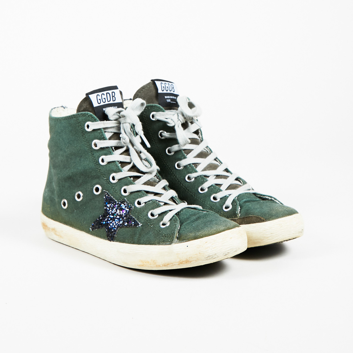 Sneakers for Women On Sale, Green, Canvas, 2017, 3.5 Golden Goose