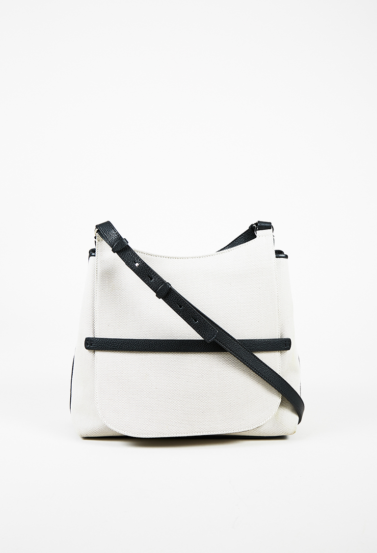 """Sideby"" Canvas & Leather Shoulder Bag"