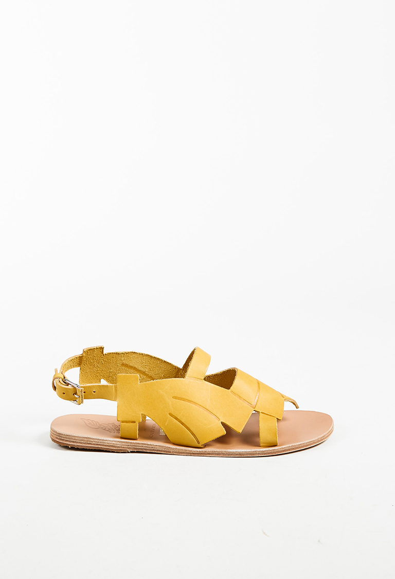9161f2a178e710 Ancient Greek Sandals x Carven NWT Yellow Leather