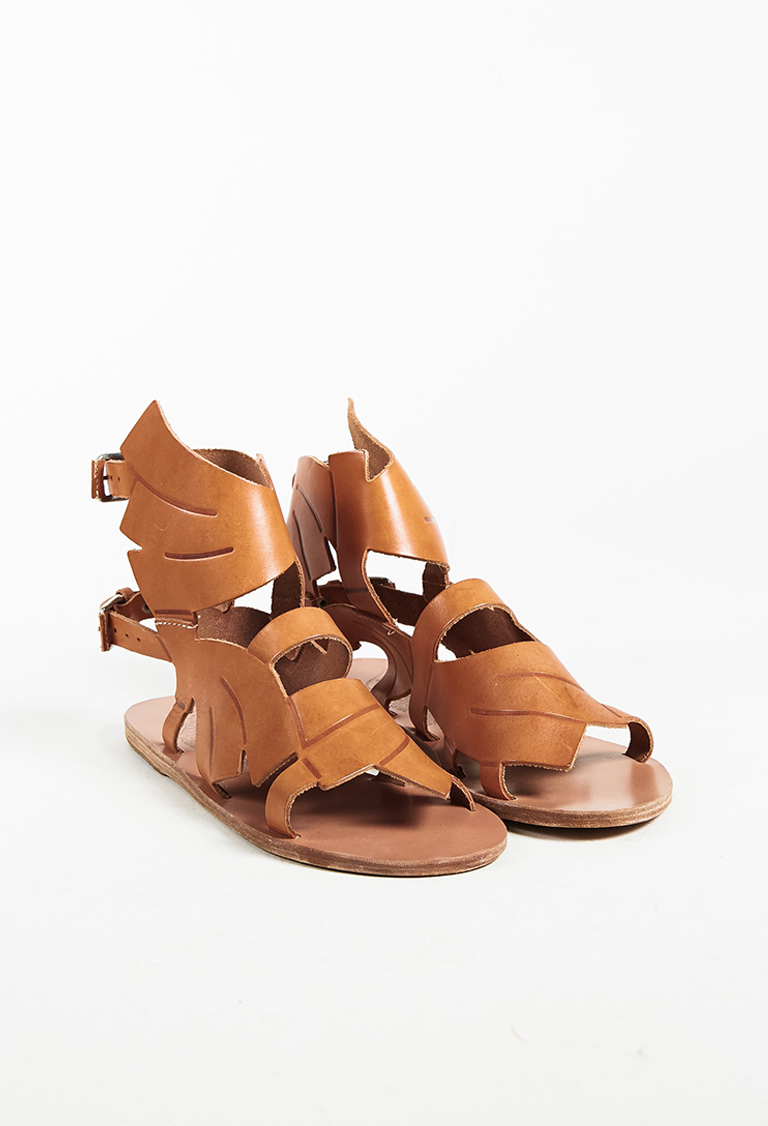 8c466ea342f1c4 Ancient Greek Sandals x Carven NWT Brown Leather