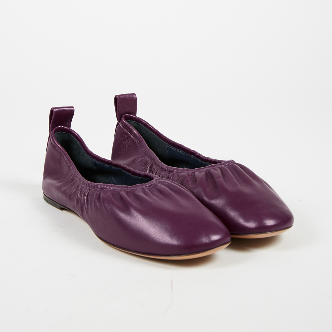 34aa74d48 Details about Celine NWOT Purple Nappa Leather Ballerina Flats SZ 38.5