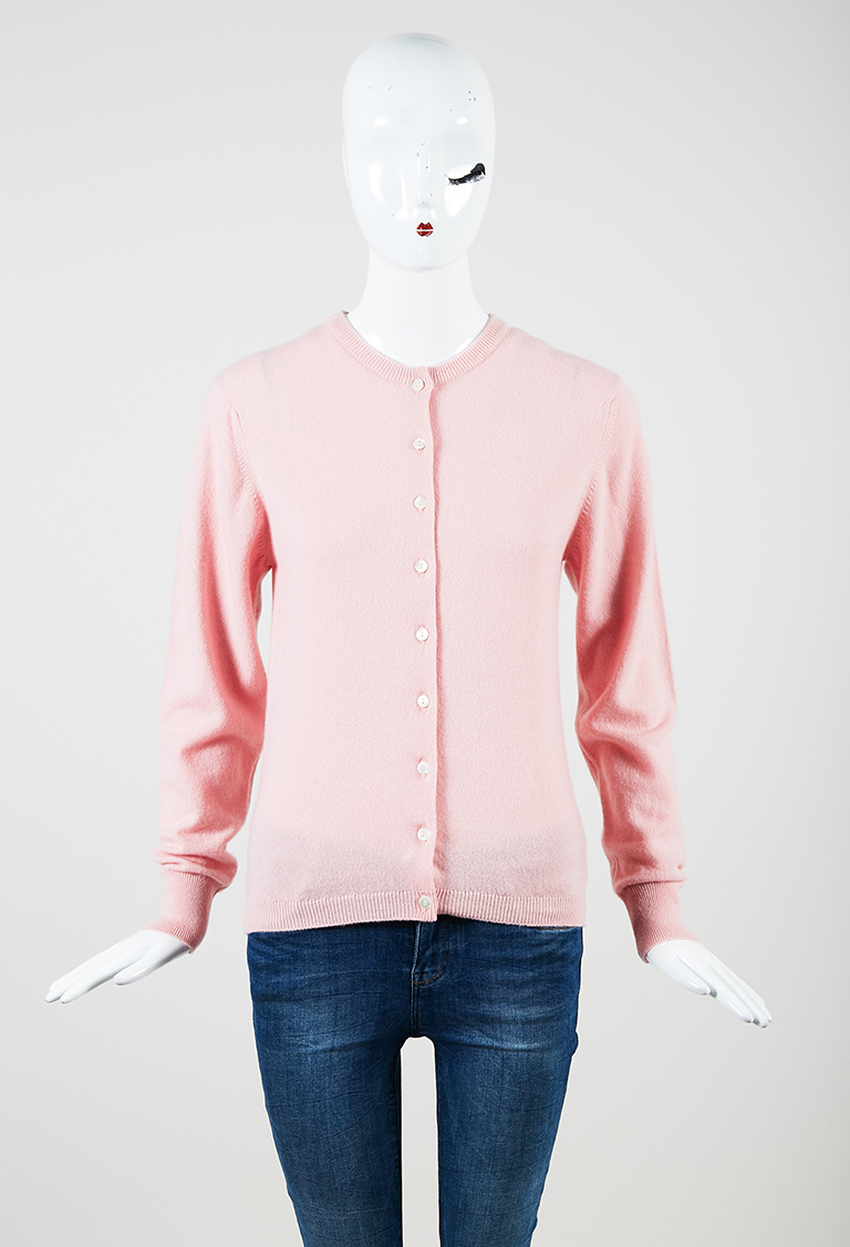Pink Cashmere Button Up Cardigan