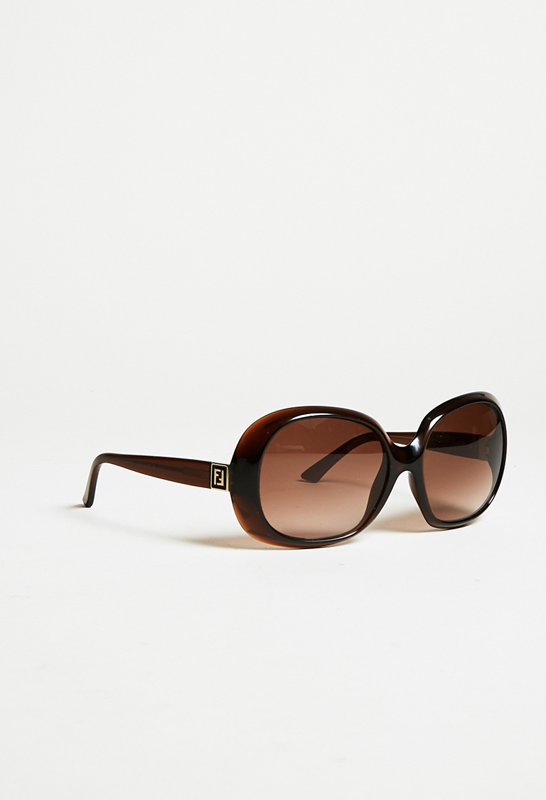 Brown Black Oversized Sunglasses