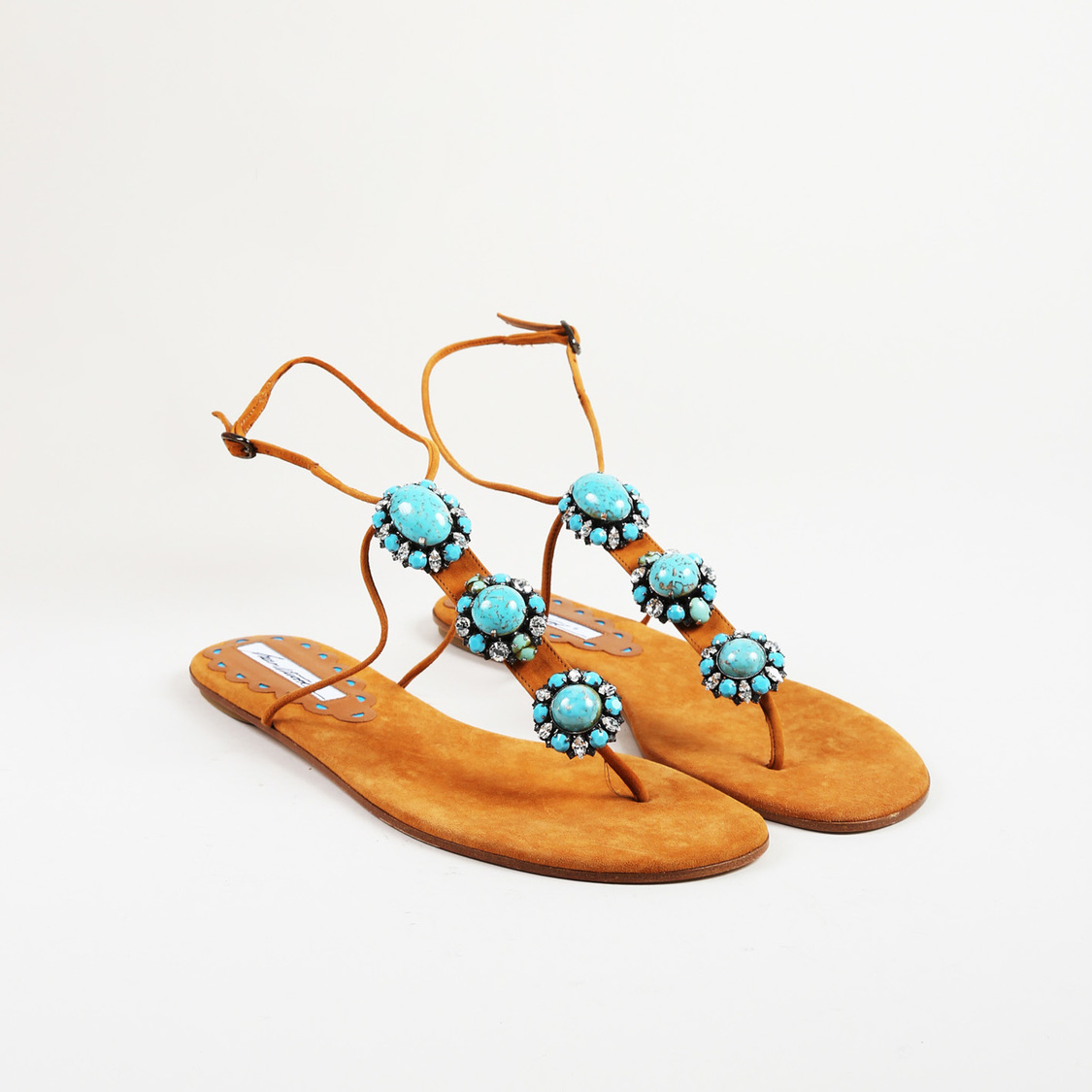 NEW BRIAN ATWOOD EMBELLISHED SANDALS PERFECT SUMMER UK 4.5 EU 37.5 NO RESERVE