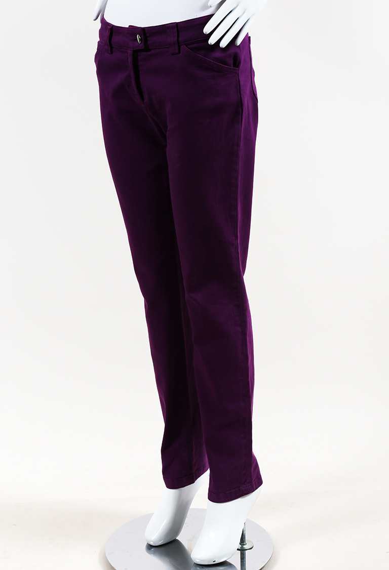 Purple Denim Skinny Pants