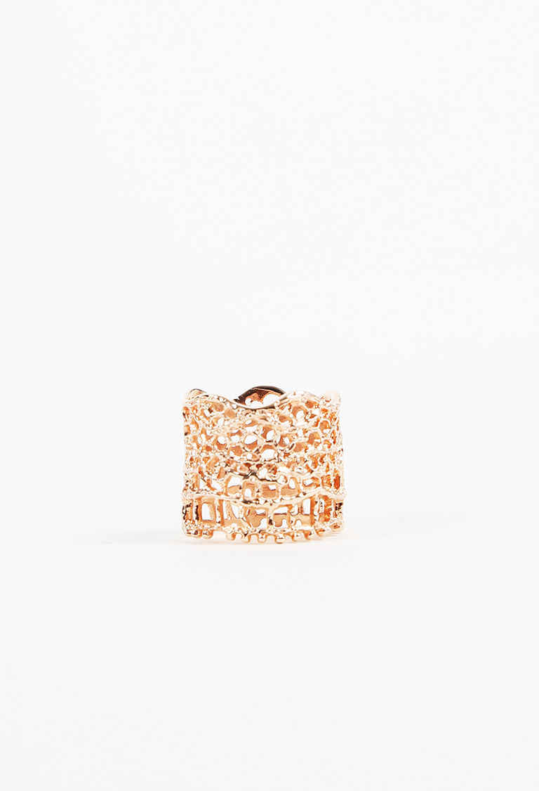 "18k Rose Gold Plated ""Lace"" Ring"