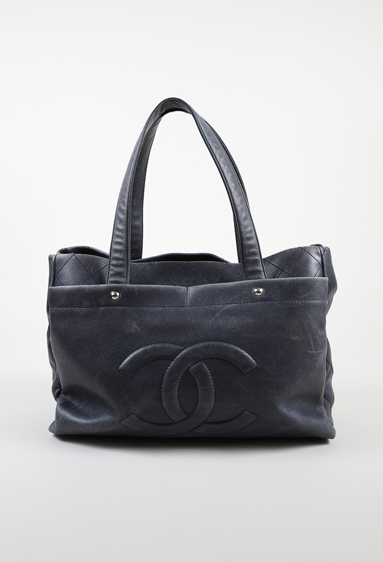 """Gray Quilted """"Caviar"""" Leather """"Ultimate Executive"""" Tote"""